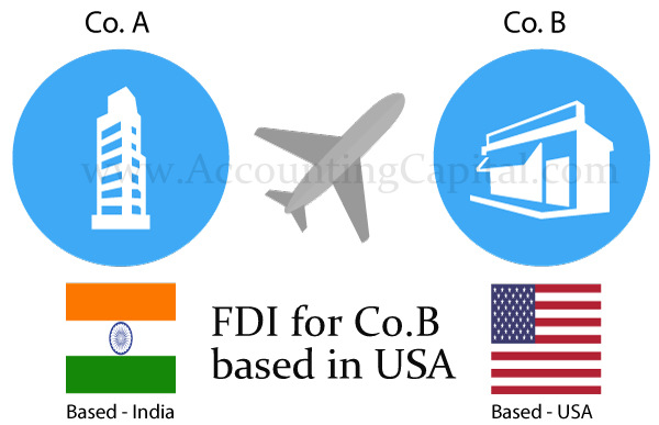 Infographic explaining FDI