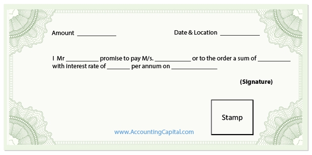 Difference between bill of exchange and promissory note format promissory note template thecheapjerseys Images