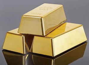three gold bricks used for golden rules of accounting
