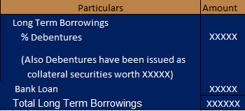 Debentures issued as collateral under option 2